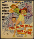 """Movie Posters:Sports, Take Me Out to the Ball Game (MGM, 1949). Window Card (14"""" X 16""""). Sports...."""