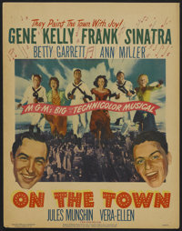 "On the Town (MGM, 1949). Window Card (14"" X 18""). Musical"