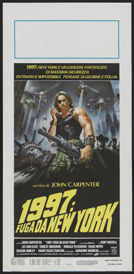 "Escape from New York (Columbia, 1981). Italian Locandina (13"" X 27.5""). Action"