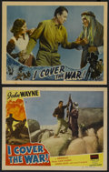 "Movie Posters:Action, I Cover the War (Universal, 1937 and R-1948). Lobby Cards (2) (11""X 14""). Action.... (Total: 2 Items)"
