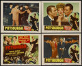 "Movie Posters:Drama, Pittsburgh (Realart, R-1953). Title Lobby Card and Lobby Cards (3) (11"" X 14""). Drama.... (Total: 4 Items)"