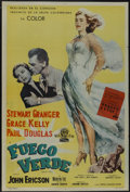 "Movie Posters:Adventure, Green Fire (MGM, 1954). Argentinean Poster (29"" X 43"").Adventure...."
