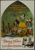 "Movie Posters:Animated, Snow White and the Seven Dwarfs (Buena Vista, R-1975). Argentinean Poster (29"" X 43""). Animated...."
