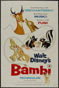 "Movie Posters:Animated, Bambi (Buena Vista, R-1966). One Sheet (27"" X 41"") Style A.Animated...."