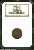 Patterns, 1863 1C One Cent, Judd-299, Pollock-359, R.3, PR65 Red and ...