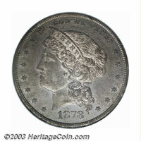 1878 $1 Dollar, Judd-1556A, Pollock-1744, R.8--Environmental Damage--NCS Proof. The head of Liberty is large and faces l...