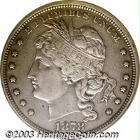 1878 $1 Goloid Dollar, Judd-1557, Pollock-1749, R.(?)--Improperly Cleaned--Proof NCS. One of two examples in this sale o...