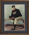 Autographs:Photos, Joe DiMaggio Signed Photograph. Here the Yankee Clipper has applieda great example of his Hall of Fame signature to the 8x...