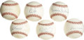 Autographs:Baseballs, Hall of Famers & Superstars Single Signed Baseballs Lot of 6.Superstar sweet spot signatures from some of the greatest ath...