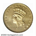 Proof Gold Dollars: , 1885 G$1 PR64 Deep Cameo PCGS. As a low mintage issue, ...