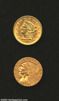 1906 $2 1/2 MS60 Cleaned Uncertified, well struck with good luster and a couple of small specks of debris on the D in UN...