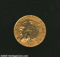 1908 $2 1/2 --Mount Removed, Scratched--Uncertified. VF Details, Net VG8. The portrait is discolored and blurry where it...