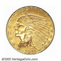 Indian Quarter Eagles: , 1911-D $2 1/2 MS62 PCGS. With a limited original mintage ...