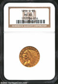 Indian Half Eagles: , 1916-S $5 MS63 NGC. Typically well struck with ample mint ...