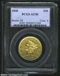 Liberty Eagles: , 1840 $10 AU50 PCGS. This bright example has refreshingly ...