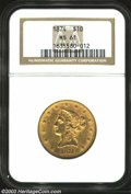Liberty Eagles: , 1874 $10 MS61 NGC. A moderately abraded representative ...