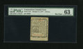 Colonial Notes:Connecticut, Connecticut October 11, 1777 3d PMG Choice Uncirculated 63....