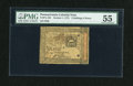 Colonial Notes:Pennsylvania, Pennsylvania October 1, 1773 2s/6d PMG About Uncirculated 55....