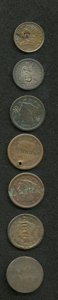 Counterstamps, Septet of Counterstamped U.S. Coins.... (Total: 7 coins)