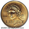 1988-W G$5 Olympic Gold Five Dollar MS70 PCGS. Flawless with nary an ill-defined feature to report, this otherwise honey...