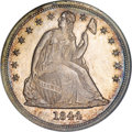 Proof Seated Dollars, 1844 $1 PR64 PCGS. CAC....
