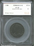 Additional Certified Coins: , 1786 COPPER Connecticut Copper, Mailed Bust Left VF20 ...