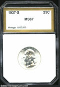 Additional Certified Coins: , 1937-S 25C Quarter MS67 PCI (MS66). A brilliant and ...