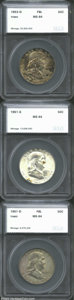 Additional Certified Coins: , 1951-D 50C Half Dollar MS64 Full Bell Lines Toned SEGS (... (3coins)