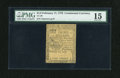 Colonial Notes:Continental Congress Issues, Continental Currency February 17, 1776 $1/3 PMG Choice Fine 15....
