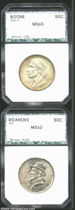 Additional Certified Coins: , 1936-S 50C Boone Half Dollar MS65 PCI (MS64), the golden-... (2coins)