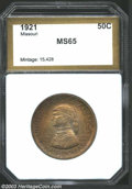 Additional Certified Coins: , 1921 50C Missouri Half Dollar MS65 PCI (MS63 Questionable ...