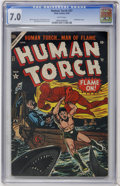 Golden Age (1938-1955):Superhero, The Human Torch #37 (Atlas, 1954) CGC FN/VF 7.0 White pages....