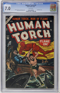 The Human Torch #37 (Atlas, 1954) CGC FN/VF 7.0 White pages