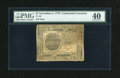 Colonial Notes:Continental Congress Issues, Continental Currency November 2, 1776 $7 PMG Extremely Fine 40....