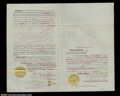 Stocks and Bonds:Certificates with Significant Autographs, Charles Crocker - Central Pacific Rail Road (California)