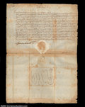 Stocks and Bonds:Certificates with Significant Autographs, Fernando de Medici - Document signed March 6, 1602