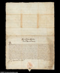 Stocks and Bonds:Certificates with Significant Autographs, Don Sosimo de Medici II - Document signed March 20, 1608
