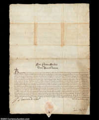 Don Sosimo de Medici II - Document signed March 20, 1608 Don Sosimi de Medici II ascended to the throne upon his father'...