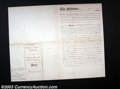 Stocks and Bonds:Certificates with Significant Autographs, Thomas Edison - Land Conveyance - Edison Lamp Company to ...