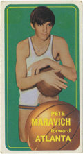 "Basketball Cards:Singles (1970-1979), 1970 Topps Basketball Pete Maravich #123. First card for the phenomknown as ""Pistol"" Pete. Maravich averaged better than 4..."
