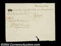 Stocks and Bonds:Certificates with Significant Autographs, Samuel Meredith - Check