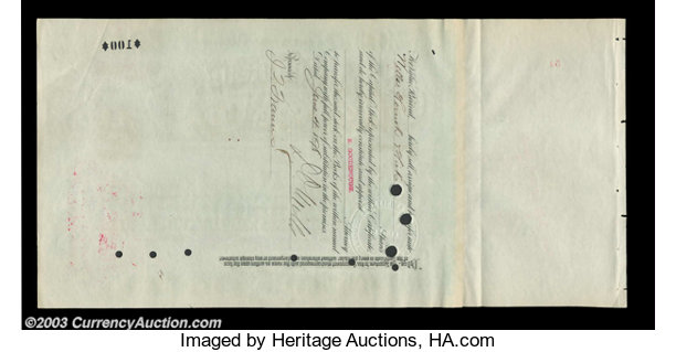 Coins & Paper Money Mergenthalter Linotype Stock Issued To And Signed On Verso By Darius O Autographs Mills