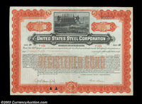 Henry Phipps - United States Steel Corporation A $5,000 gold bond issued to and signed on the verso by Henry Phipps