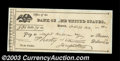 Stocks and Bonds:Certificates with Significant Autographs, Supreme Court Justice Joseph Story Signed Check