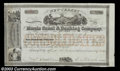 Stocks and Bonds:Banking & Insurance Certificates, Morris Canal and Banking Company (New Jersey)
