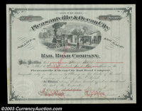 Pleasantville & Ocean City Rail Road Company (New Jersey) Issued to George Wood and signed by him as President, this...