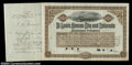 St. Louis, Kansas City and Colorado Railroad Company (Kansas) This attractive brown certificate portrays an engraved vig...