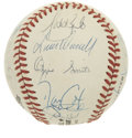 Autographs:Baseballs, 1990 St. Louis Cardinals Team Signed Baseball. The 1990 version ofSt. Louis' Redbirds are represented here by this ONL (Wh...