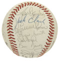 Autographs:Baseballs, 1987 St. Louis Cardinals Team Signed Baseball. The 1987 NL Champsturn out in force in the form of 23 sweet signatures on t...