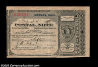 Newark, OH Postal Note A nice postal note from Newark, Ohio dated August 4, 1890 in the amount of 15¢. Nice Extreme...
